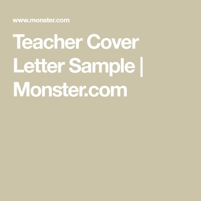 Best 25+ Cover letter teacher ideas on Pinterest Teacher cover - application letter sample