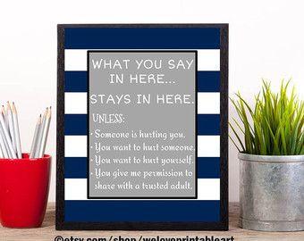 School Psychology Gift Psychology Poster by WeLovePrintableArt