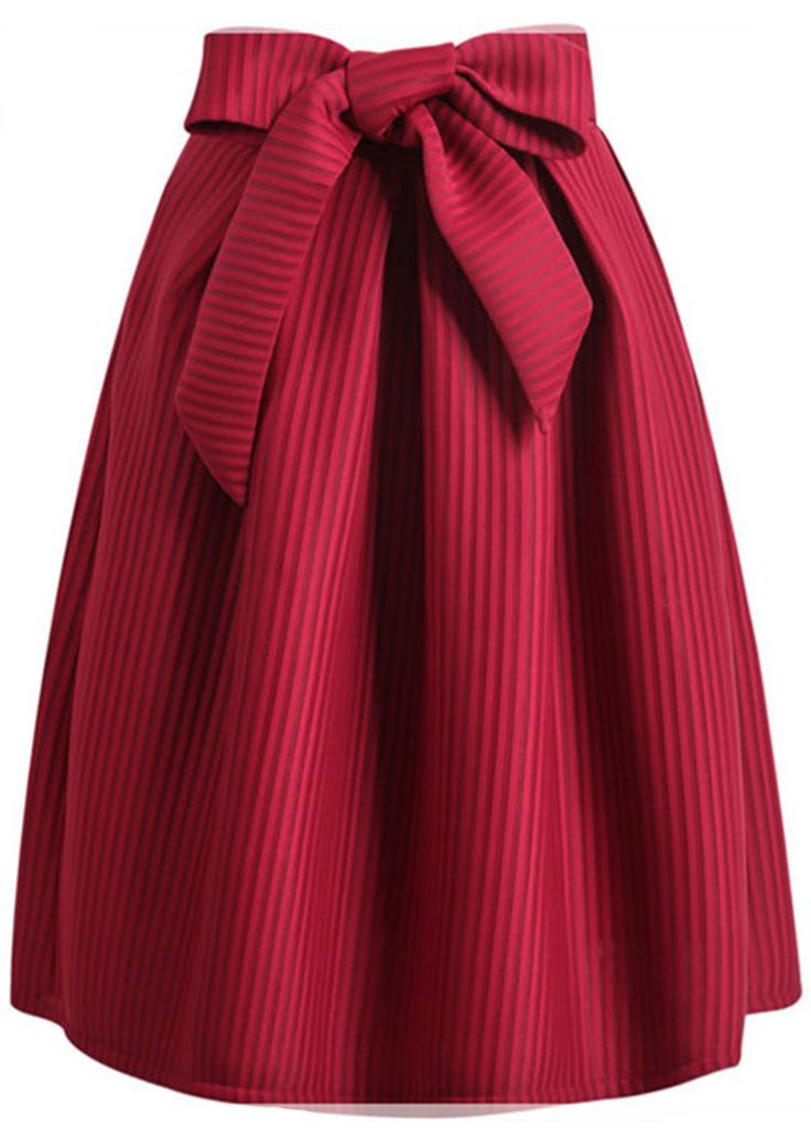 Sassy Girl! Chic sash skirt-free shipping&easy return to get it! This pretty striped skirt gonna complete your dreaming dancing look! Party tonight with Cupshe look!