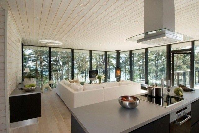 faux-plafond-design-canape-angle-hotte-aspirante-four