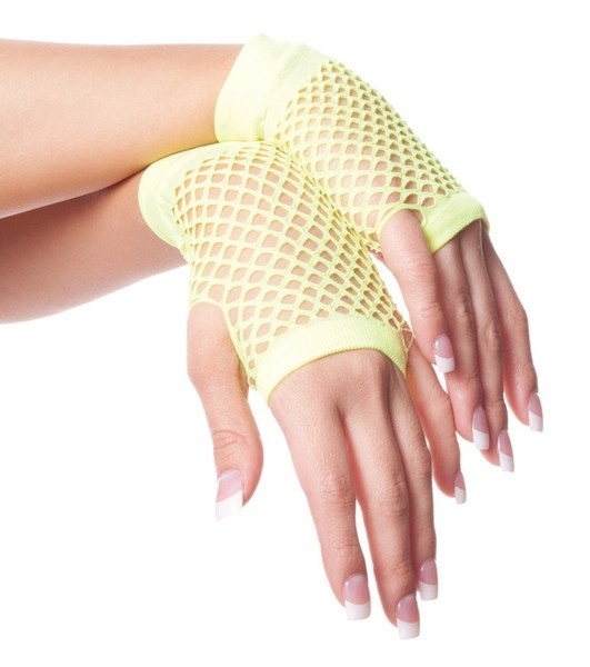 Private Island Party  - 80's Short Fishnet Gloves - Yellow, $0.70- $1.99   Short Fishnet Gloves for Great 80's Party!