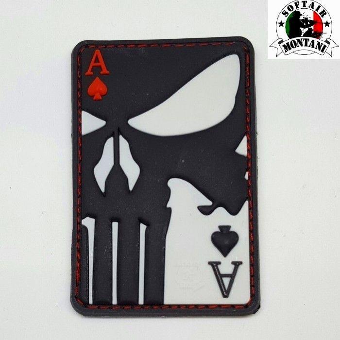 """JTG """"PUNISHER ACE OF SPADE"""" PVC patch"""