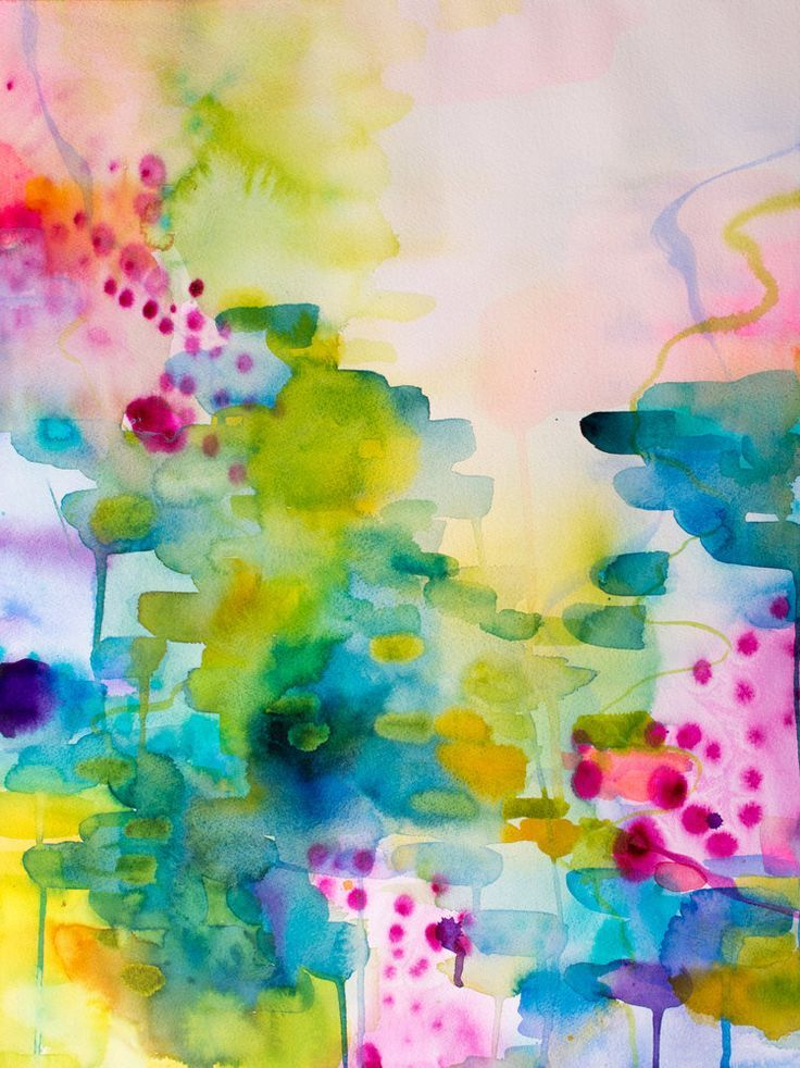 Reflections On Joy One Colorful Abstract Art Abstract Abstract