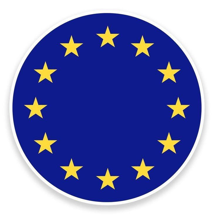 2 x EU Europe Flag Map Vinyl Sticker  #9022