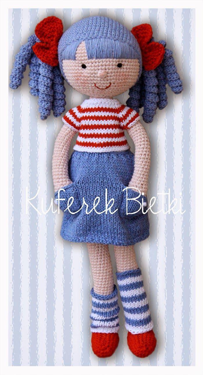 Amigurumi Doll Skirt : Kuferek Bietki: Anita - lalka na szydeLku/ Gehakelte Puppe ...