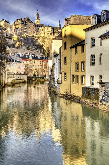 Alzette River | Luxembourg  ** BTDT! I decided I wanted to visit at least One place that no-one I knew had ever been to. Luxembourg is that place. It was lovely and very interesting. My friend and I went to the War Cemetery where General Patten is buried.