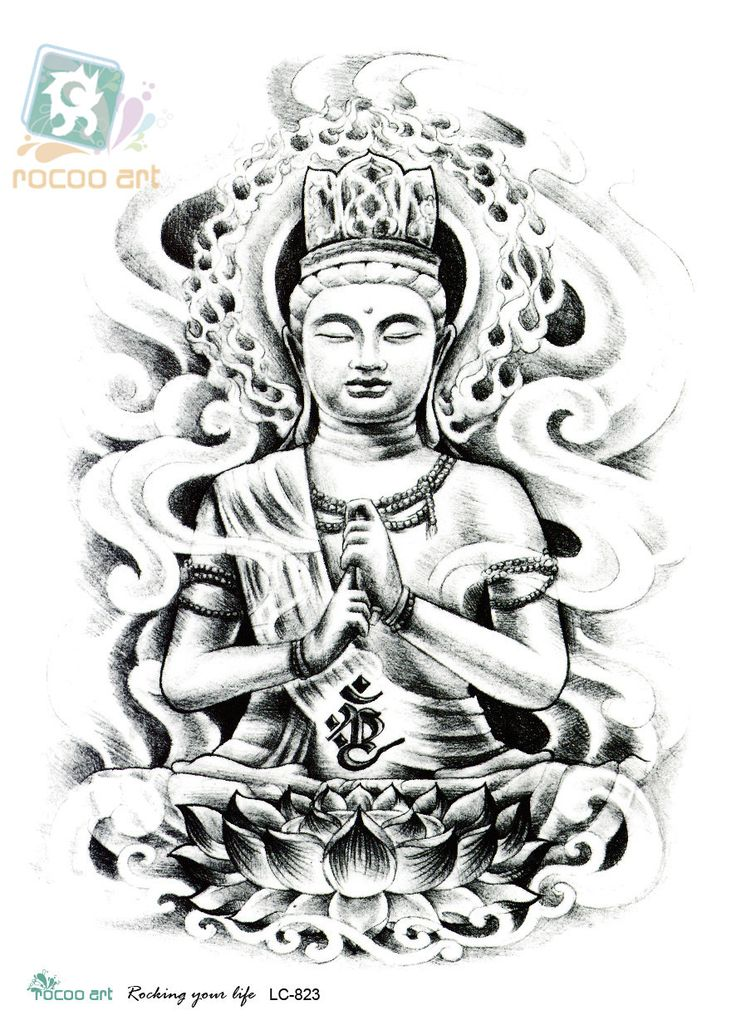 Meditating Gautama Buddha Tattoo Design