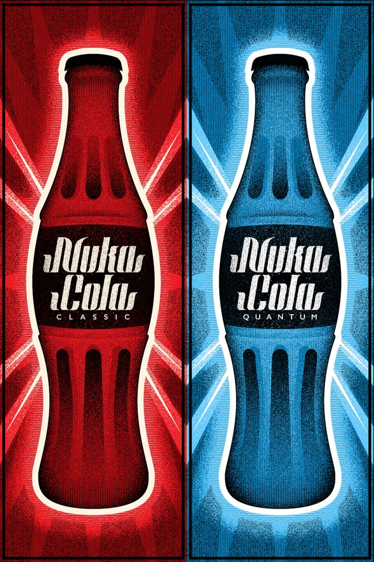 Nuka Cola Classic & Quantum - Created by Ron Guyatt Available for sale on Etsy. Also check out the multitude of places you can find more of Ron's work…. Website | Society6 | Nuvango Facebook | Twitter | Instagram | Deviant Art