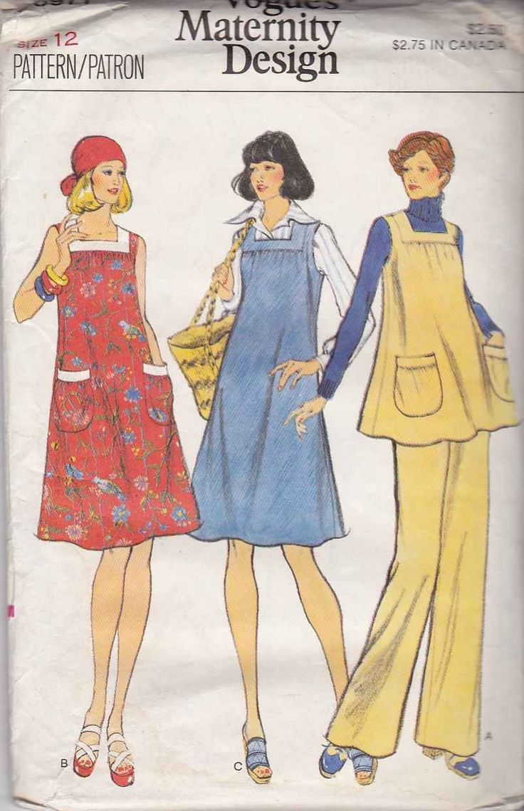 902 best vintage maternity patterns images on pinterest vogue sewing pattern 8971 misses size 12 maternity dress jumper tunic top pants voguesewing ombrellifo Images