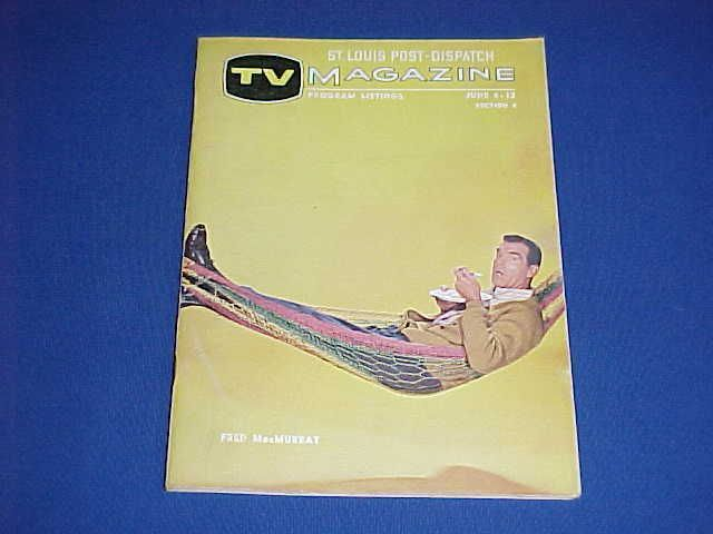 RARE 1965 MY THREE SONS FRED MacMURRAY TV MAGAZINE GUIDE ST. LOUIS POST