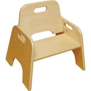 "Stackable Hardwood Toddler Chairs - 6"" Seat Height at SCHOOLSin"