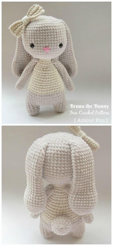 Amigurumi Bunny Free Crochet Patterns #Amigurumi #Bunny