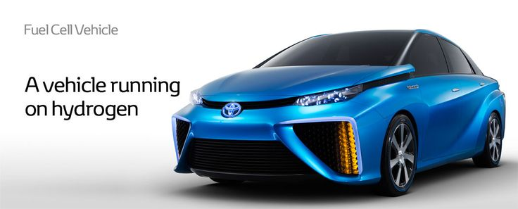 Hydrogen Fuel Cell Vehicle. A car that's only emission is water.