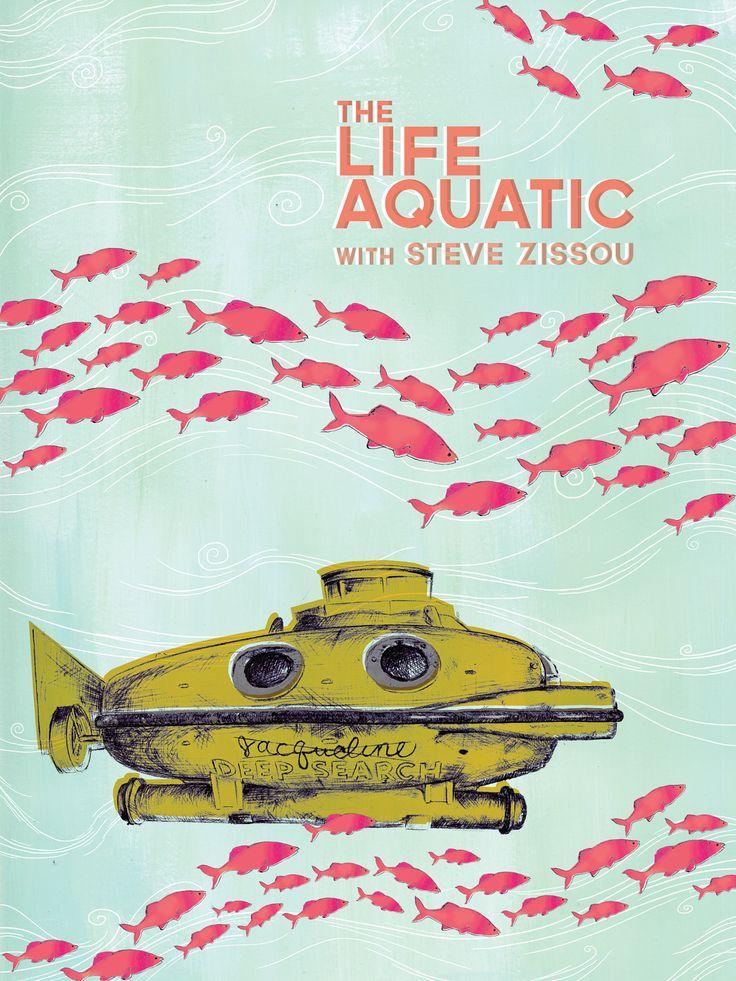 The Life Aquatic poster - 11 x 15. $50.00, via Etsy.