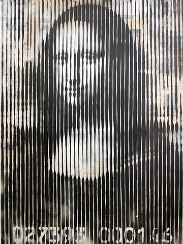 Mona Linesa2009Stencil and mixed media on paper22 x 16 inches (55.88 x 40.6 cm)Edition of 50Signed