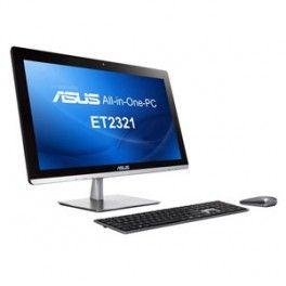 """Asus AIO ET2321INTH-B056K. i3-4010U, B85, 4GB, 1TB, 23"""" Touch, VGA1GB, BR, TV, GBLAN, WL, BT, T+R, W8, TV, Negro"""