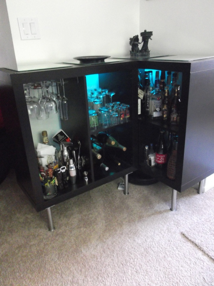 10 best images about ikea bar hacks on pinterest cool Ikea drinks cabinet hack