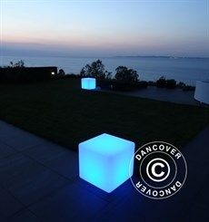 LED Cube Light, 50x50cm, multifunction, multicolour. Use it as a chair, table or just as a lamp :-) very nice