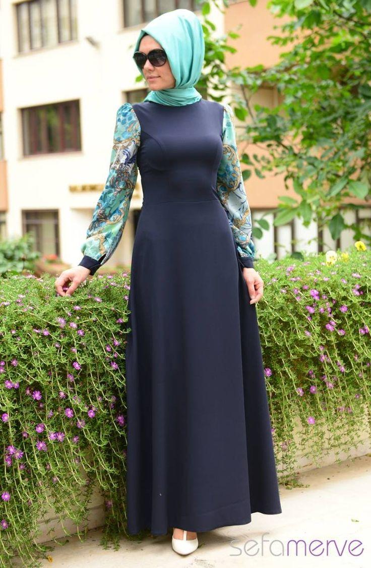Pınar Akşam Elbise 2478-01 Mint Yeşil