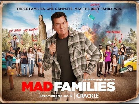"""Charlie Sheen returns with Mad Families, an original film debutingtoday on Sony's free streaming service Crackle.  Sheen, who also executive produced, is Charlie Jones, described as """"a loveable man-child with a heart of gold and a unique way of looking at the world.   #Charlie Sheen #comedy #Crackle #Leah Remini #Mad Families"""
