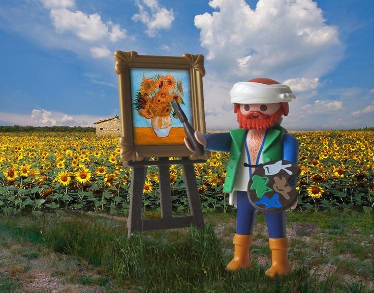 playmobil van Gogh met schilderdoek&accessoires