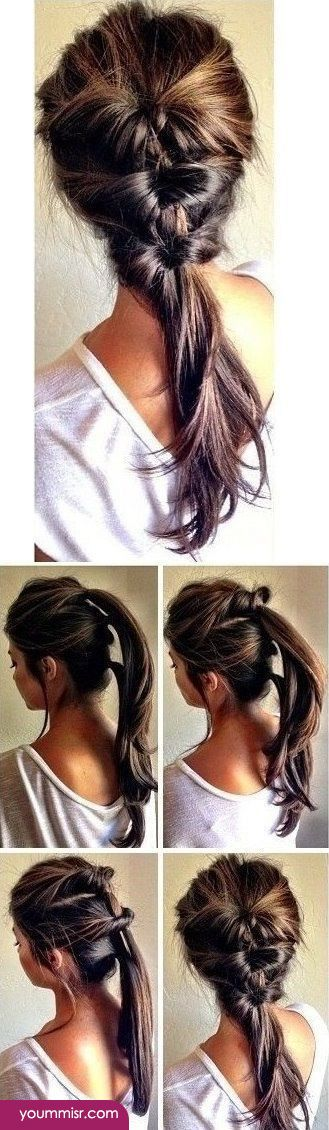 quick easy hairstyles 2015 2016 step by step http://www.yoummisr.com/quick-easy-hairstyles-2015-2016-step-step-2/