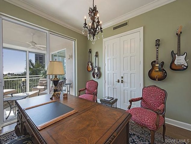 fun home office combines traditional with a rock n roll vibe provence in park shore