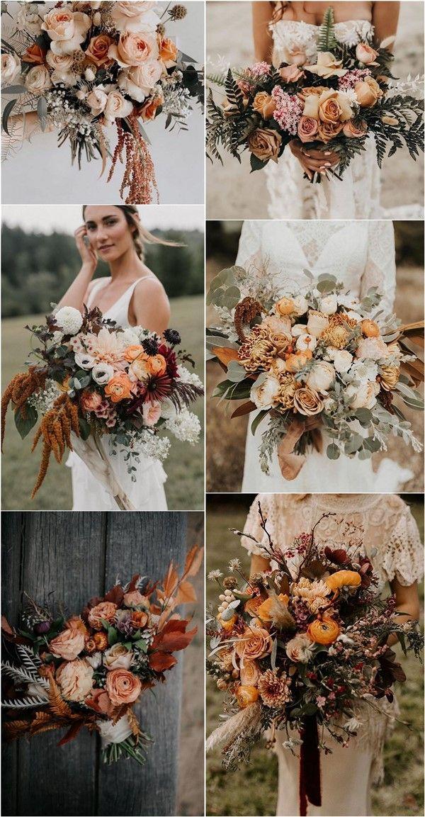 Terra Cotta Wedding Bouquet Bridal Bouquet Fall Bouquet Silk Flower Bouquet Orange Bouquet Fall Wedding Silk Flowers Wedding Flowers