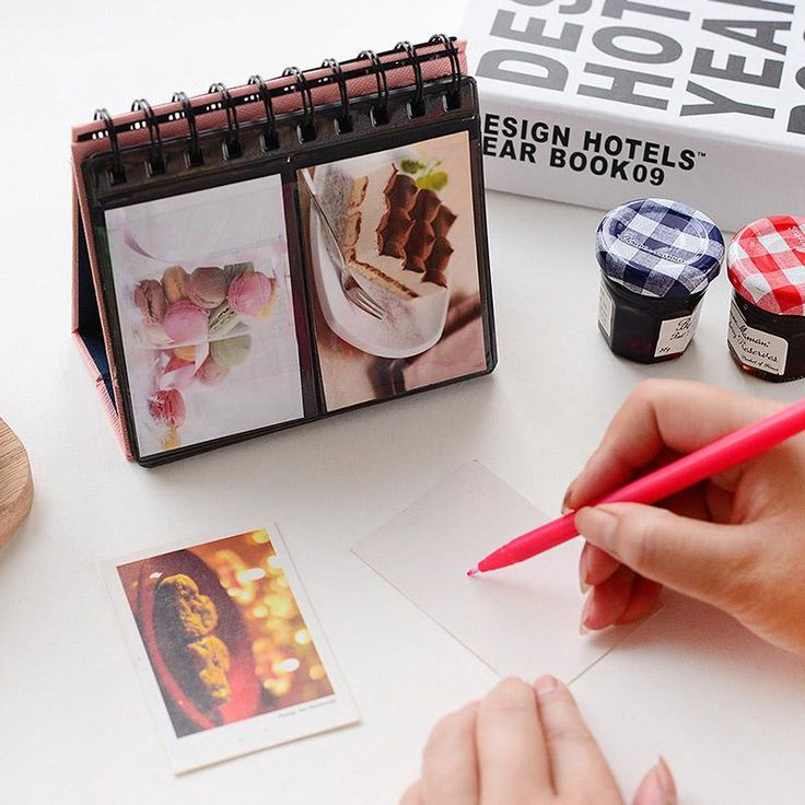 68 Pockets Mini Instant Polaroid Desk Calendar Photo Album Colorful Handmade Baby Child Marriage Albums Sheets For 3 Inch