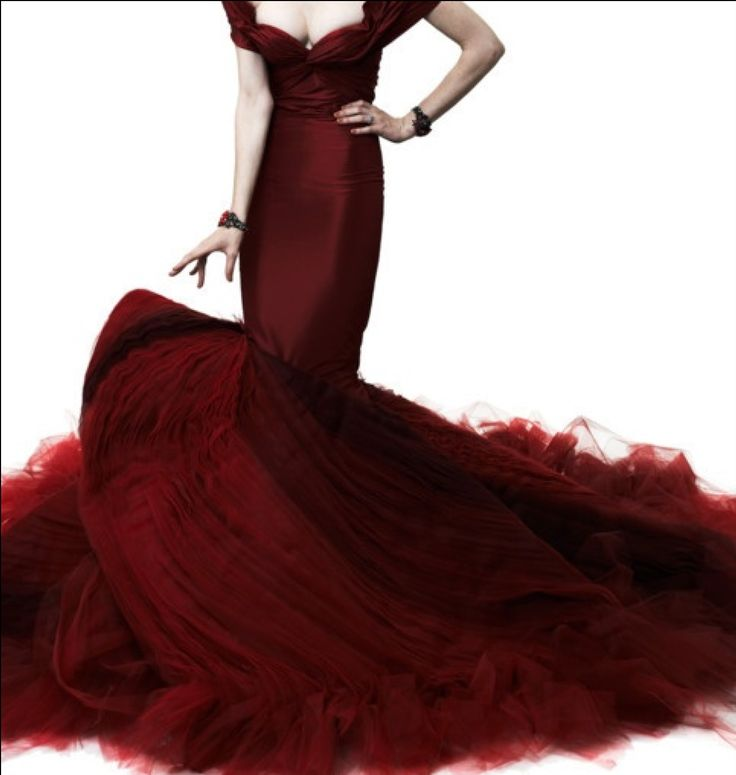 Fabulous red ball gownFashion Dresses, Dresses Fashion, Zac Posen, Red Gowns, Evening Gowns, Cocorocha, Dark Red, Zacposen, Coco Rocha