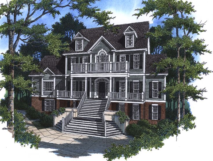 Old Southern House Plans | Prindable Plantation Home Plan 052D 0085 | House  Plans And More | ALL SCRIPTURES AND MY FAVORITES | Pinterest | Plantation  Homes, ...