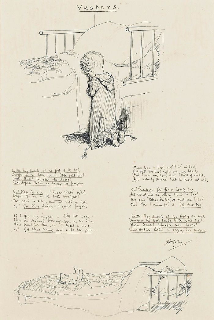 Manuscript featuring AA Milne poem and EH Shepard sketch to go on auction | Books | The Guardian