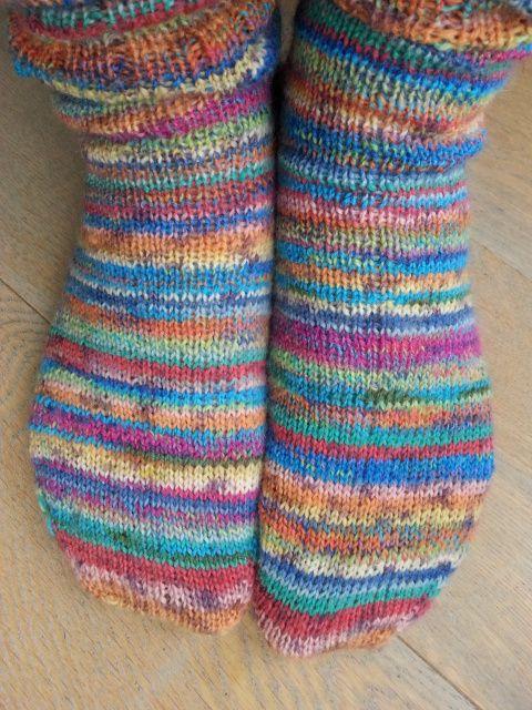 truly very happy scrappy socks