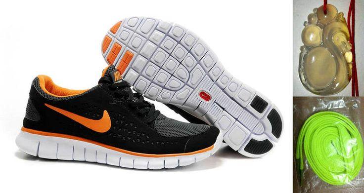 best cheap d73d9 6948a ... Chalcedony Dragon Volt Lace Mens Nike Free Run Black Orange Shoes  Nike   Pinterest  Nike Free 3.0 V4 Wolf ...
