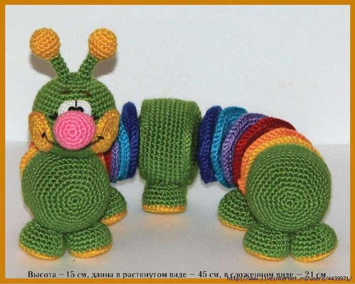 Озорные петельки: Радужная гусеница - игрушка