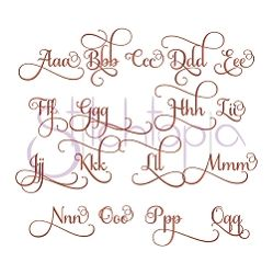 """Grace Monogram Set - 2"""" 3"""" 4"""" Tall 