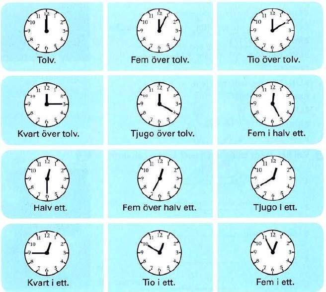 klockan är mycket!