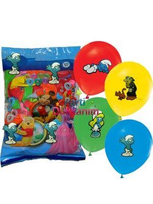 Şirinler Balonları (100 adet)