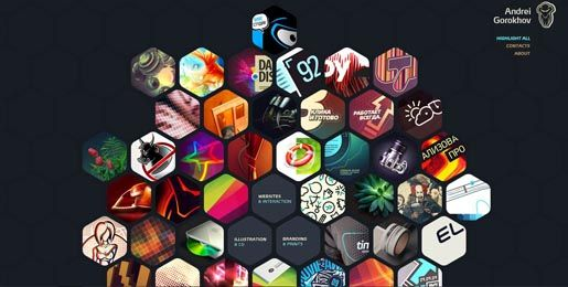 http://gorohov.name/     - awesomeness  /    30 Creative, Colorful Web Designs - DesignFestival