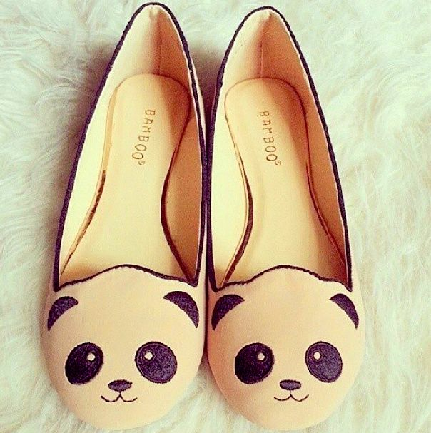 These panda flats are so cute *.*