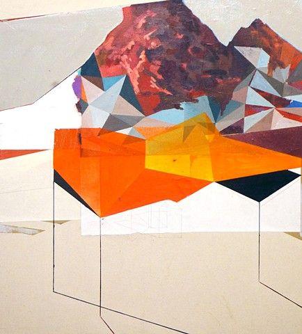 Vesuvius II // Andy Curlowe // Acrylic, pencil, enamel, collage on canvas