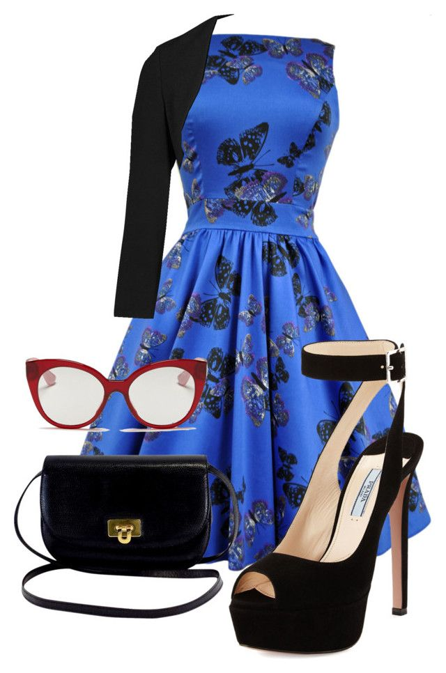 """Penelope Garcia // Criminal Minds"" by evelyn-w-o ❤ liked on Polyvore featuring Paule Ka, Prada and Miu Miu"