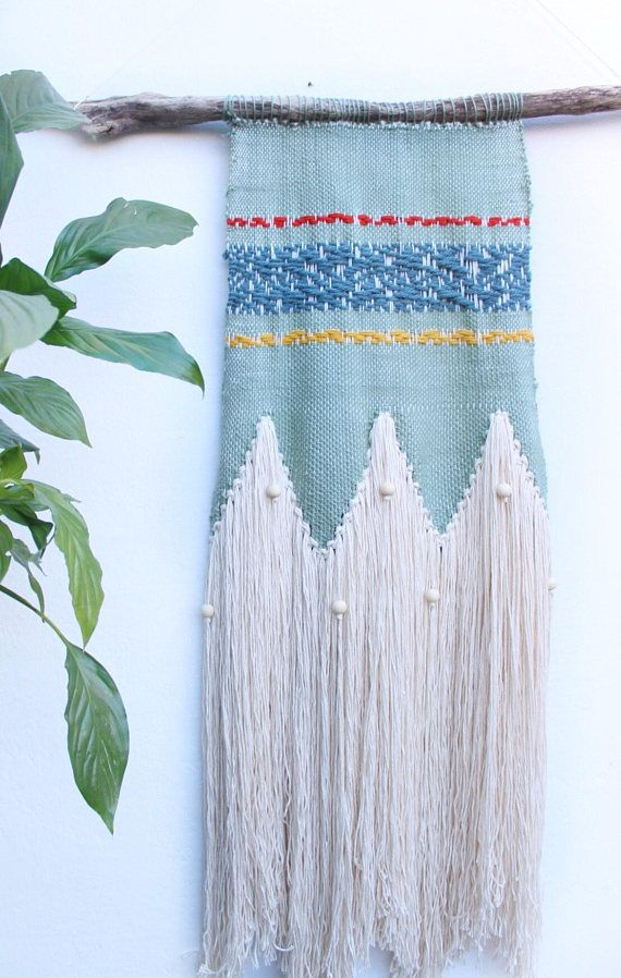 Eclectic woven wall tapestry | large bohemian wall art | wall hanging