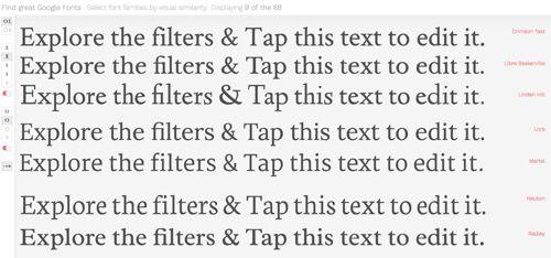 Better Font Finder buscador mejorado de Google Fonts   Google Fontses sin duda una de las herramientas más útiles que ofrece la web a la hora de dar con unatipografía ideal y que además sea de uso libre. Y aunque desde la web de Google puedes mirar y probar todas las disponibles a veces la fuente perfecta se pierde de vista especialmente en una biblioteca tan grande.  Son más de 800 tipografías disponibles y de hecho te las puedesbajar todas a tu equipo si así lo quieres. Sin embargo esto no…