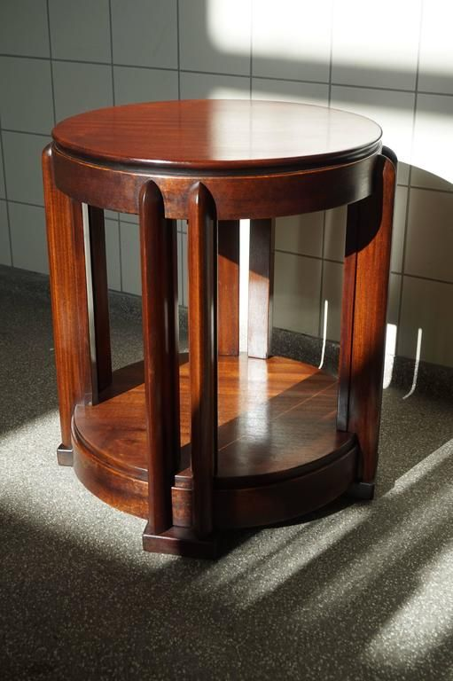 Stunning Mahogany Amsterdam School Occasional Table Attributed to Hildo Krop 2