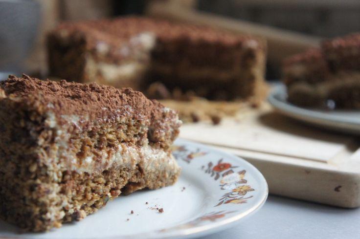 Tiramisu taart (suikervrij, zuivelvrij, glutenvrij)