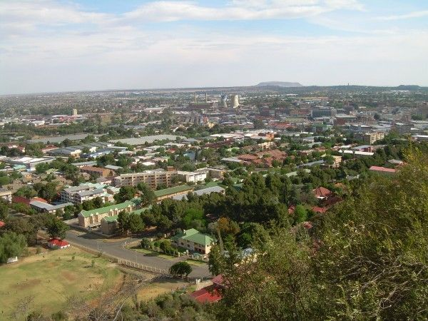 View of Bloemfontein from Naval Hill