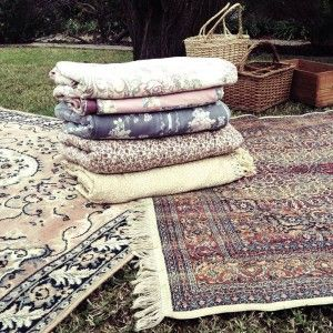 picnic rugs available for hire from www.oldrefinery.com.au