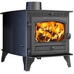 Hunter Stoves Herald 6 Double Sided DD Wood Burning Stove