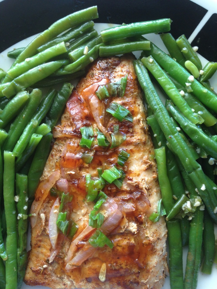Salmon and Haricot Vert Quick and Easy 30 minute meal